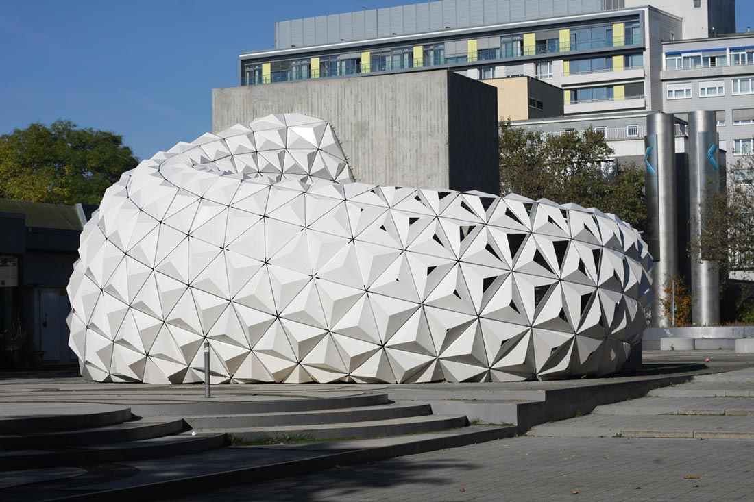 ArboSkin Pavilion made by ITKE in Stuttgart - Parametric Architecture
