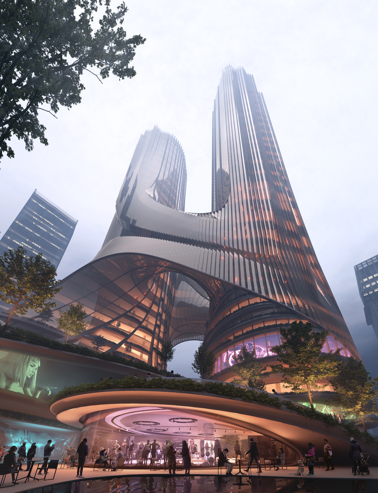 C Tower by ZHA Rising in The Waterfront High-Rise Center of Shenzhen City