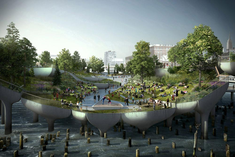 The Little Island Blossoming Greenways Designed by Heatherwick Studio