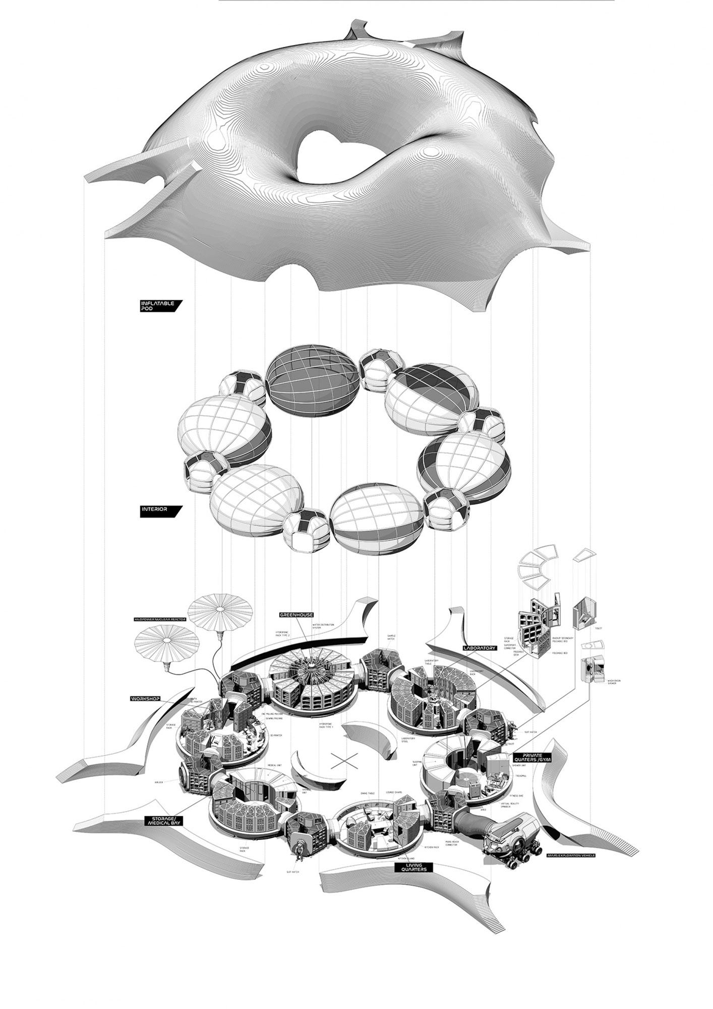 Architecture on Mars © Hassell Studio