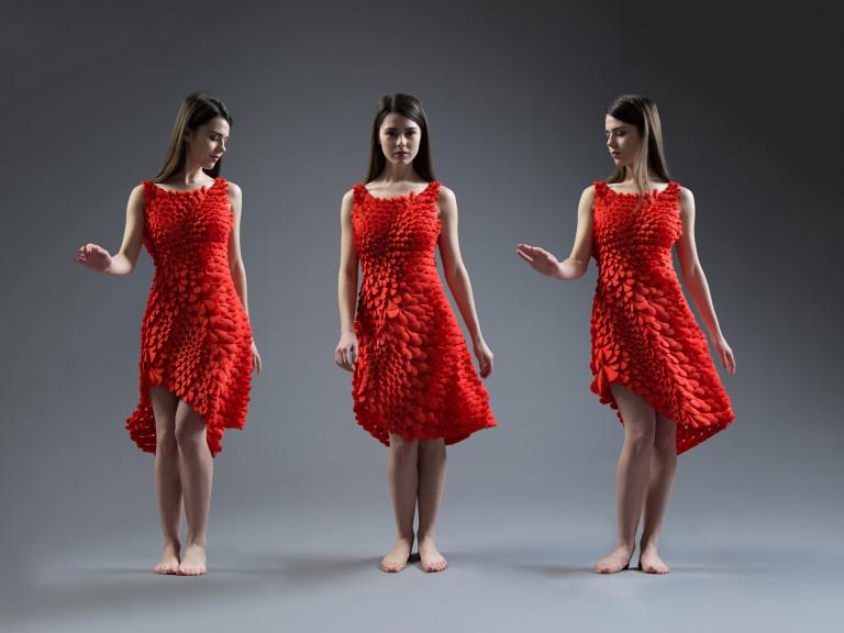 Kinematic Petal Dress